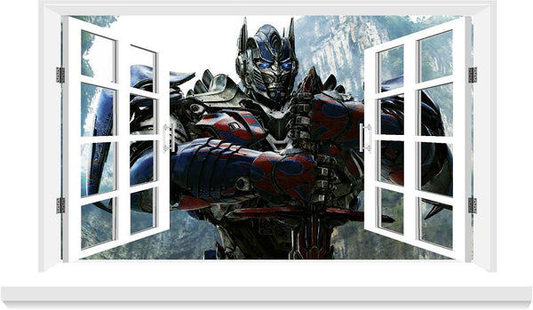 Transformers decal 3D Window decal for the wall (size 58x 100 cm )... - Art & Text
