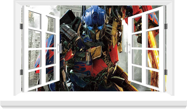 Transformers decal 3D Window decal for the wall (size 58x 100 cm ) - Art & Text