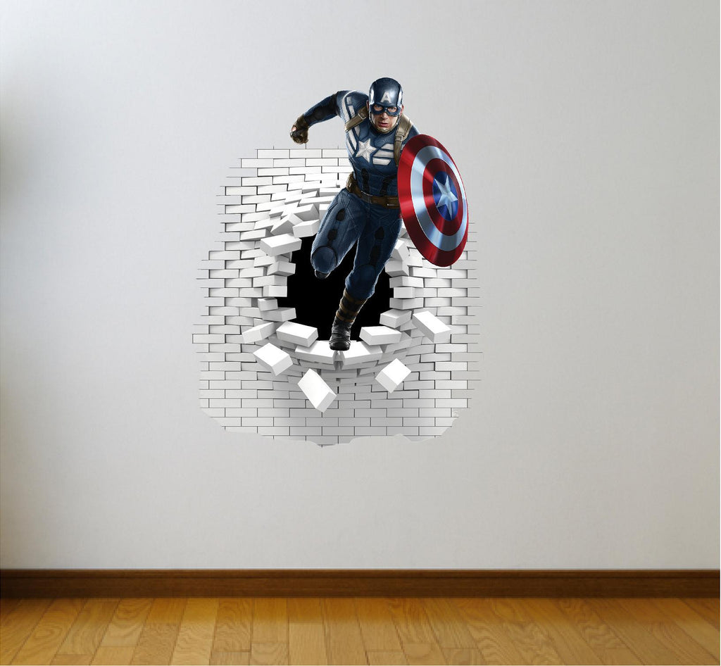 Captain America Wall Art captain america wall decal(sticker) – art og text