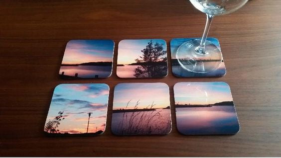 Coasters set of six in a black box - Art & Text