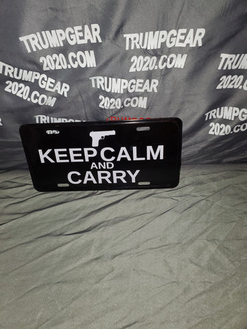 Metal License Plate• KEEP CALM AND CARRY
