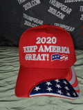 "Embroidered ""2020 KEEP AMERICA GREAT! W/flag Bill"" Hat"