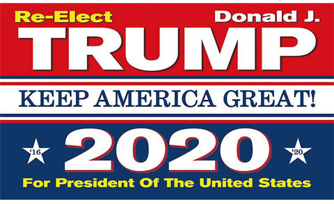 Flag Re Elect Trump 2020 3ft x 5 ft