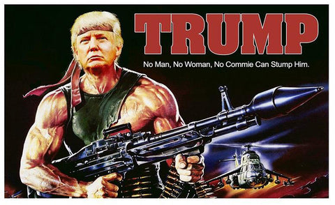 Flag Trump Rambo  3ft x 5 ft