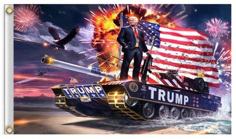 Flag Trump Tank  3ft x 5 ft