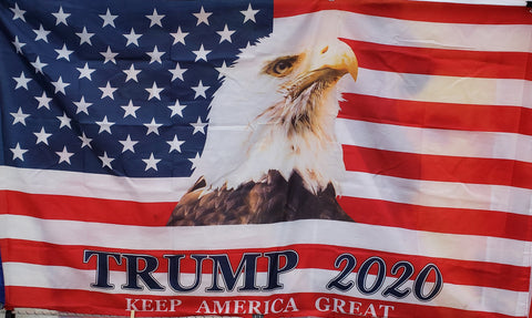 Flag Trump america eagle  3 ft x 5 ft