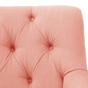 Lulu Settee in Rose