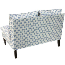 Load image into Gallery viewer, Cottage Loveseat in Navy Floral