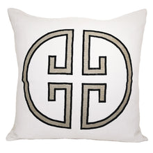 Load image into Gallery viewer, Asphalt Monogram Embroidered Pillowcase