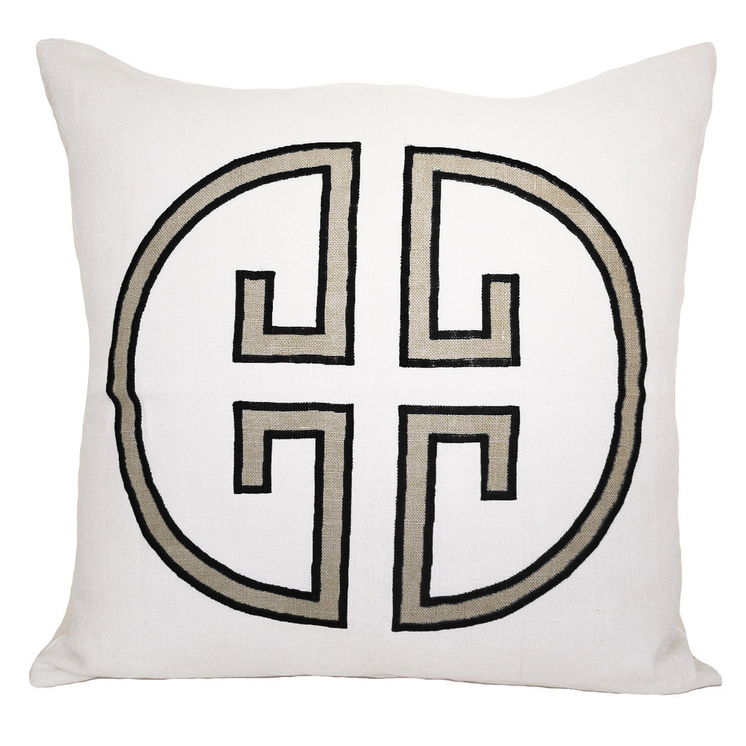 Asphalt Monogram Embroidered Pillowcase