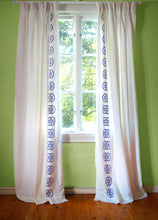Load image into Gallery viewer, Monogram Curtain - Azure