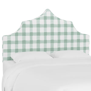 Brigit Upholstered Headboard - Mint Checks