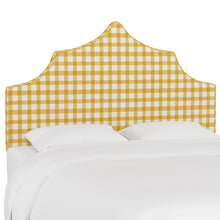 Load image into Gallery viewer, Brigit Upholstered Headboard - Yellow Gingham