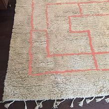 Load image into Gallery viewer, Coral Greek Key Shag Rug