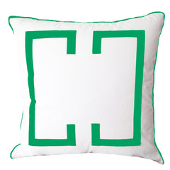 Kelly Green Deco Euro Sham