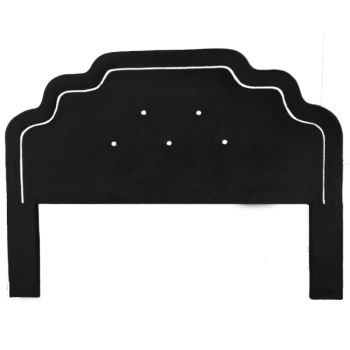 Art Deco Luxury Headboard - Black