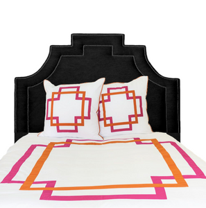 Hot Pink and Orange Takes Two Duvet Cover
