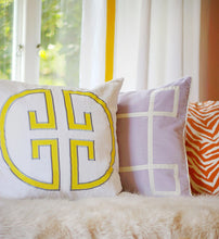 Load image into Gallery viewer, Sunshine Monogram Embroidered Pillow