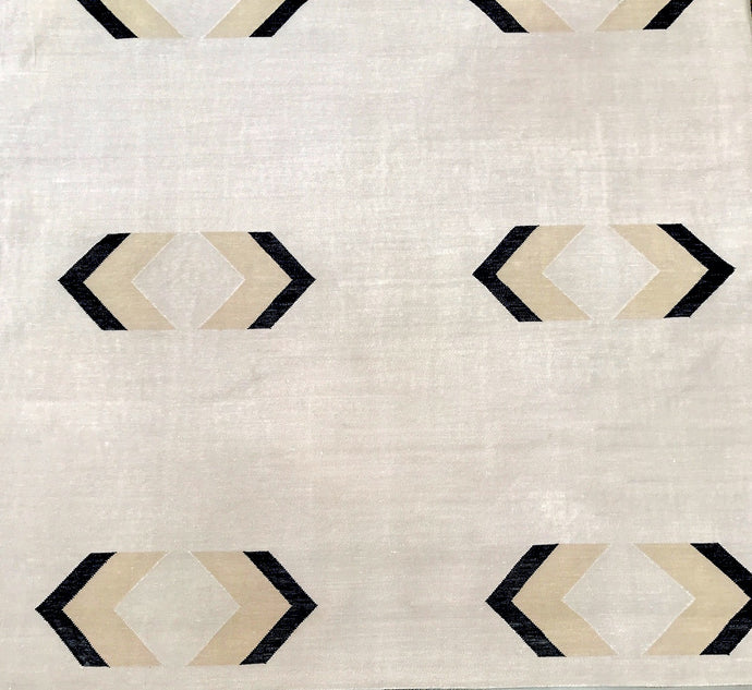 Natural Arrows Cotton Rug