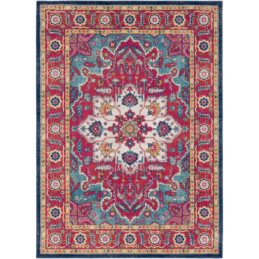 Ingrid Red and Blue Rug