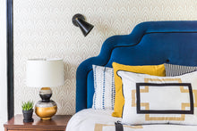 Load image into Gallery viewer, Art Deco Luxury Headboard - Indigo