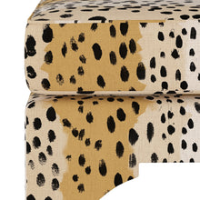 Load image into Gallery viewer, Leopard Print Ottoman