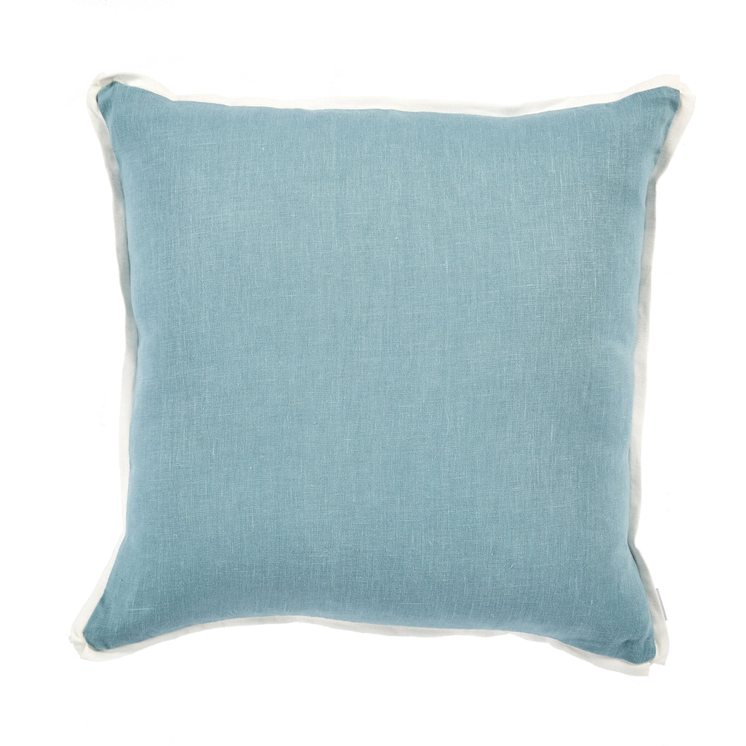 Linen Edge Pillow - Denim