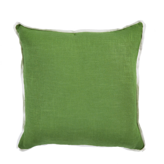 Linen Edge Pillow - Fern