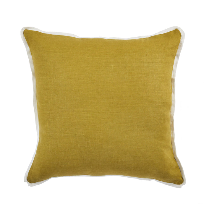 Linen Edge Pillow - Mustard