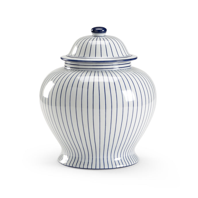 Blue Pinstripe Jar