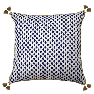 Navy Dotted Pillow