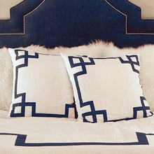 Load image into Gallery viewer, Navy Key Euro Sham