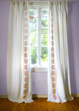 Load image into Gallery viewer, Monogram Curtain - Tangerine