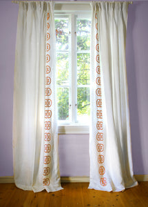 Monogram Curtain - Tangerine