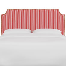 Load image into Gallery viewer, Oscar Upholstered Headboard - Candy Red Stripe