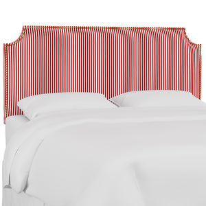 Oscar Upholstered Headboard - Candy Red Stripe