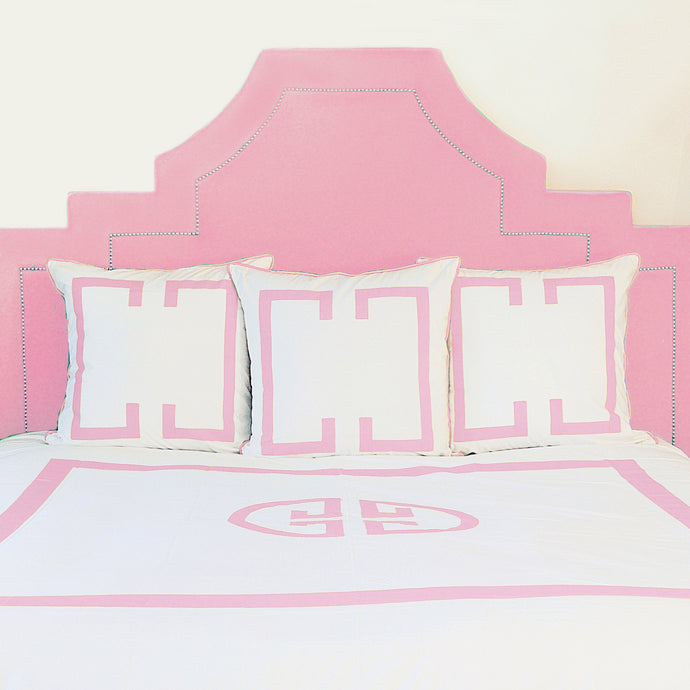 Powder Pink Deco Duvet Cover