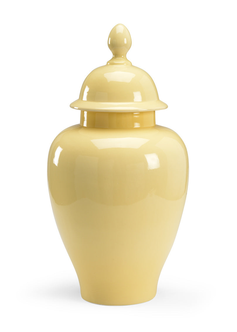 Buttercup Porcelain Glazed Jar