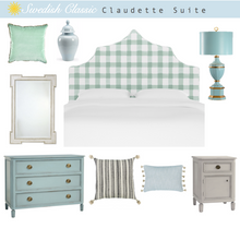 Load image into Gallery viewer, Brigit Upholstered Headboard - Mint Checks