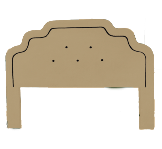 Art Deco Luxury Headboard - Tan