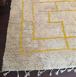 Mimosa Greek Key Shag Rug