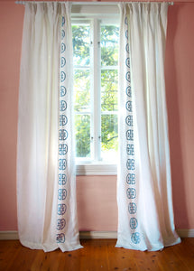 Monogram Curtain - Lagoon