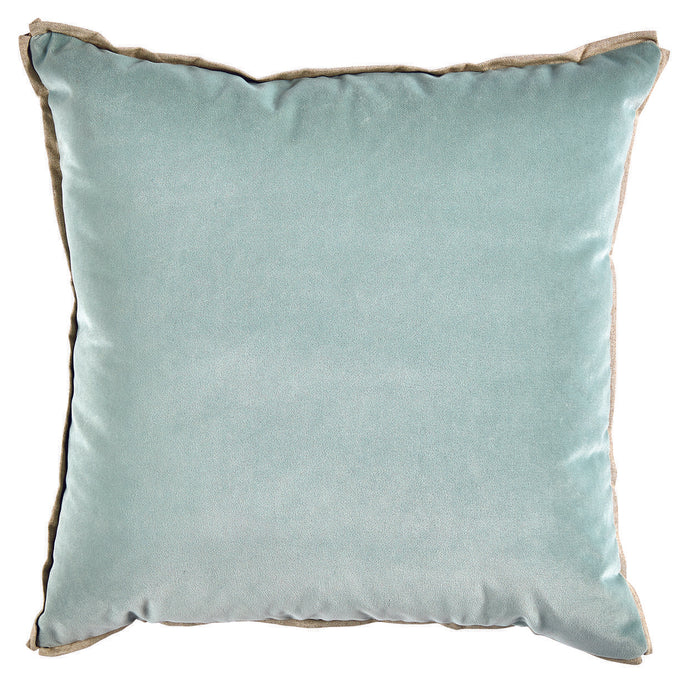 Velvet Edge Pillow in Mint