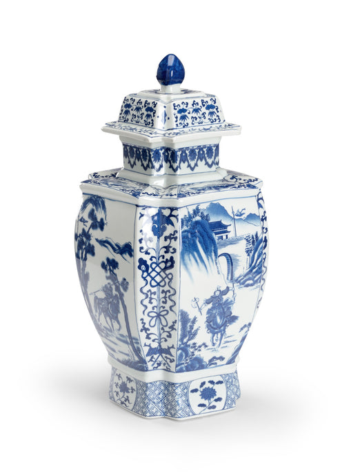 Antoinette Blue & White Jar