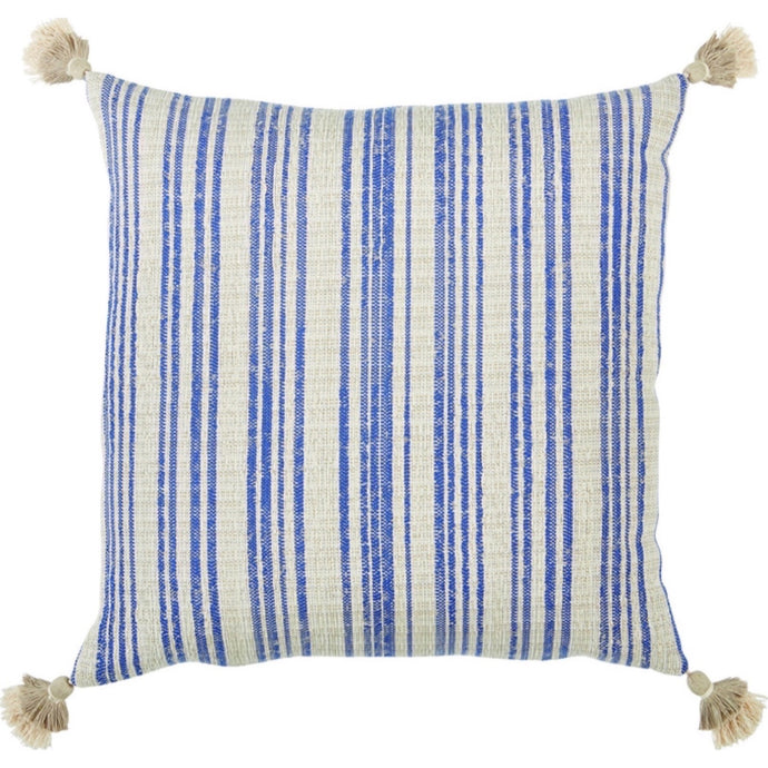 Viggo Tassle Pillow Blue