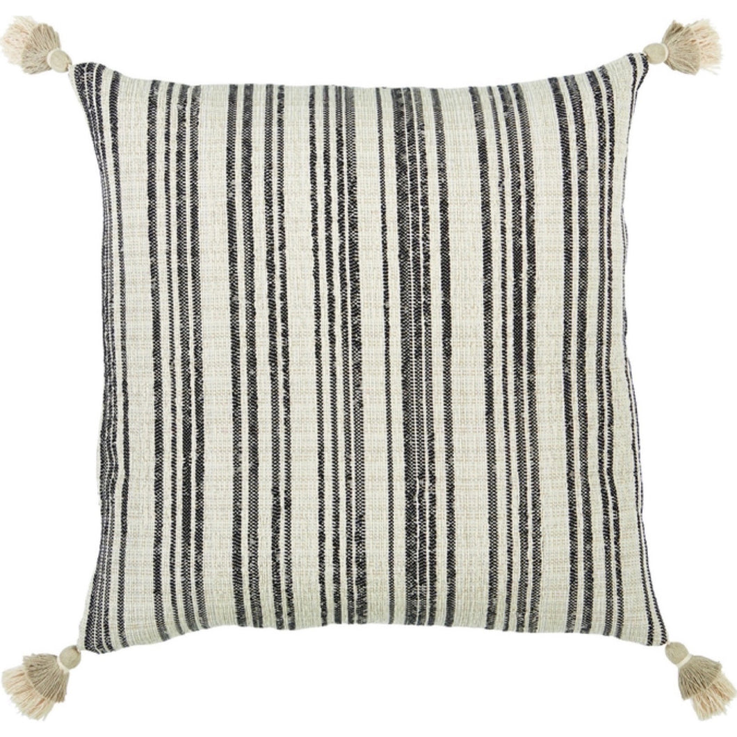 Viggo Tassle Pillow Charcoal