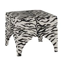 Load image into Gallery viewer, Zebra Print Ottoman