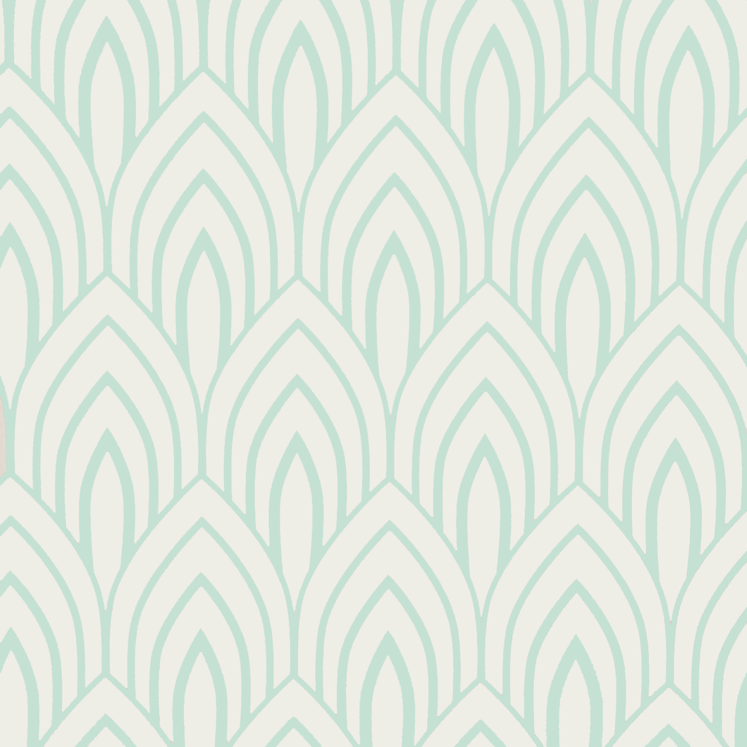 Mint Arches Wallpaper