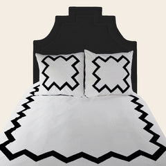 Black Bang Bang Duvet Cover