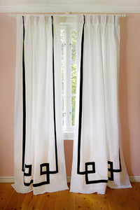 Black Greek Key Drapery